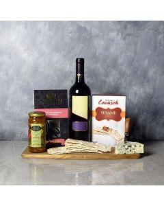 Autumn Red Cheese & Wine Basket