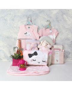 BABY GIRL SWEET DREAMS & CELEBRATION SET, baby girl gift hamper, newborns, new parents