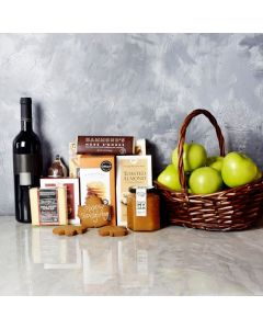 Thanksgiving Fruit & Wine Basket