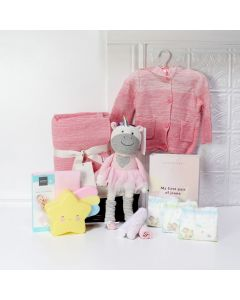 DREAMY UNICORN BABY GIRL GIFT BASKET, baby girl gift hamper, newborns, new parents