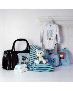 LIL BABY BOY ARRIVAL GIFT SET, baby boy gift hamper, newborns, new parents