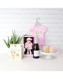 Welcome Baby Girl Gift Basket, baby gift baskets, baby gifts, gift baskets