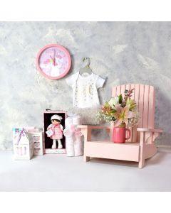 TRENDY BABY GIRL GIFT SET, baby girl gift hamper, newborns, new parents