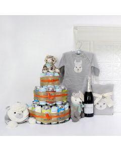 "Unisex Baby Gifts, The ""Huggies & Chuggies"" Celebration Gift Set,"