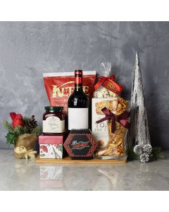 Holiday Wine & Cheese Snack Basket