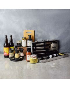 Zesty Barbeque Grill Gift Set with Beer, gift baskets, gourmet gifts, gifts