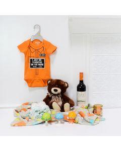 Baby Bear Celebration Set, baby gift baskets, baby boy, baby gift, new parent, baby, wine gift basket