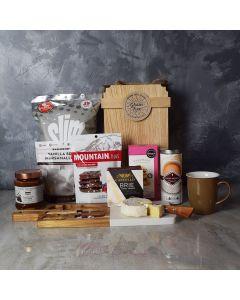TEA AND SNACKS GOURMET GIFT BASKET