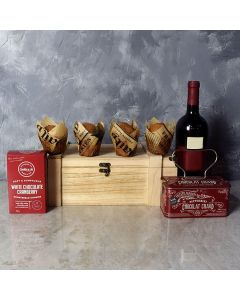 The Classic Cookie, Muffin & Wine Gift Set