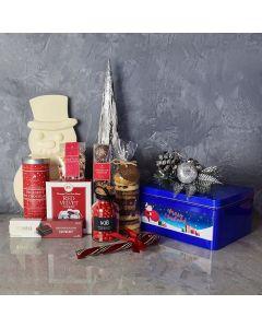 Snowman's Sweet Christmas Basket