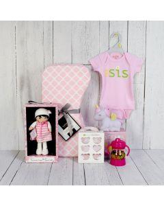 SWEET LI'L GIRL CELEBRATION SET, baby girl gift hamper, newborns, new parents