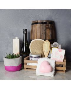 Naturally Luxurious Spa & Champagne Gift Set
