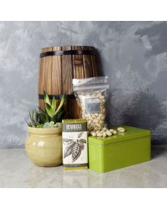 Snacks & Succulent Gift Set, kosher gift baskets, gourmet gift baskets, gift baskets, gourmet gifts