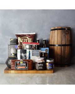 Meat & Cheese for Two gift basket, beer gift baskets, gourmet gifts, gifts
