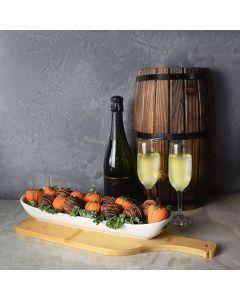 Champagne & Chocolate Strawberries Gift Basket