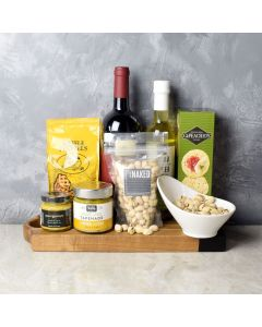 Savoury Dip & Wine Gift Set, wine gift baskets, gourmet gifts, gifts