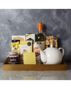 Afternoon Tea, Wine & Cheese Basket