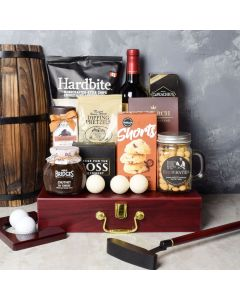 Executive Golf Wine & Snack Gift Set, wine gift baskets, gourmet gifts, gifts