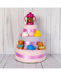 BABY GIRL'S LUXURY BATH SET, baby girl gift hamper, newborns, new parents
