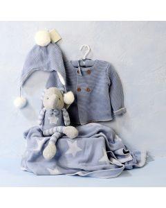 BOY'S COMFORT CLOTHING SET WITH TOY, baby boy gift hamper, newborns, new parents