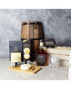 Salami, Cheese & Liquor Crate, liquor gift baskets, gourmet gift baskets, gift baskets, gourmet gifts