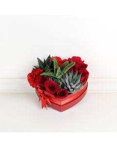 Rose Arrangement, floral gift baskets, gift baskets, Valentine's Day gift baskets