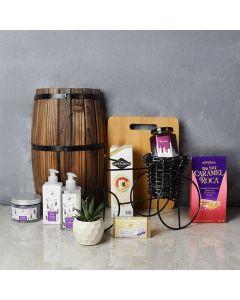 Lavender Spring Spa Gift Set, gourmet gift baskets, gourmet gifts, spa gift baskets, gift baskets