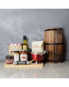 Saucy Pasta & Salami Gift Set, gourmet gift baskets, gift baskets, gourmet gifts