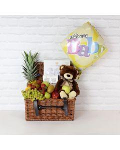 Newborn Essentials Gift Basket, baby gift baskets, baby gifts, gift baskets