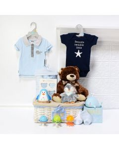 Deluxe Baby Boy Fun Set, baby gift baskets, baby boy, baby gift, new parent, baby toys