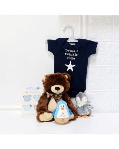 Baby Boy Starter Set, Baby Gift Baskets, Baby Toys, Baby Clothes