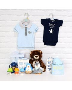 Deluxe Basket for a Baby Boy
