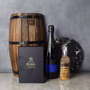 Gourmet Cookies & Champagne Gift Basket Connecticut