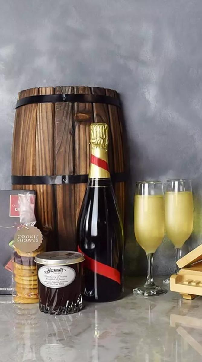 Sweet Jam & Cherries Champagne Basket