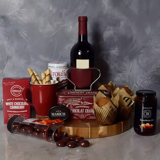 Muffin,Chocolate & Wine Delight Gift Set Connecticut