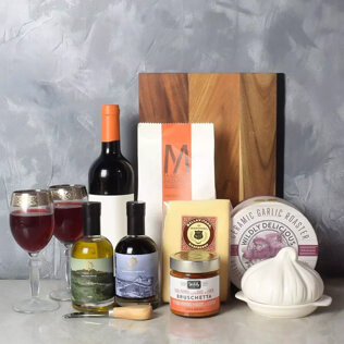 Pasta Lovers Wine Gift Basket Connecticut