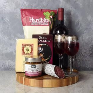 Savoury Treats Wine Basket Connecticut