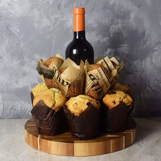 Wine & Muffins Gift Set Connecticut