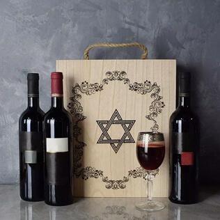 Kosher Wine Trio Gift Basket Manchester