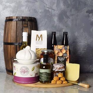 Little Italy Deluxe Craft Beer Basket Connecticut